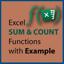 Using SUM & COUNT Function with Example in Excel