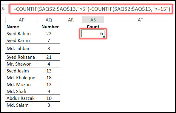 Using COUNTIF Function with Date Function in Excel