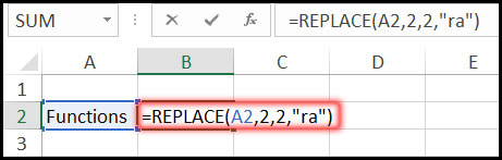 Using Replace Function with Example in Excel