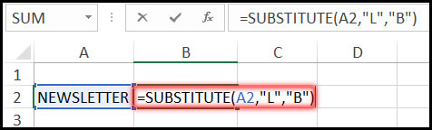 Using Substitute Function with Example in Excel