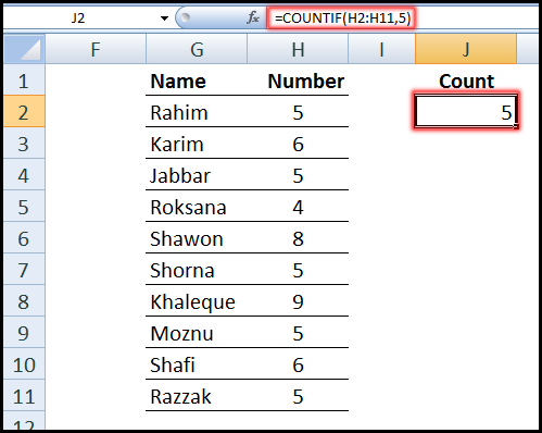 Using COUNTIF Function for text and number partial matching in Excel