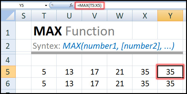 MAX Function in Excel Tutorial in Bangla