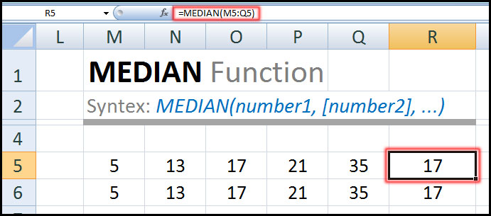 MEDIAN Function in Excel Bangla Tutorial