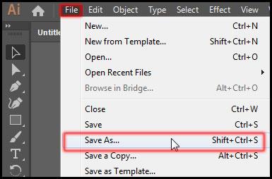 Save Illustrator CC File in PDF Format