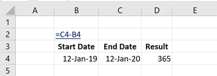 How to Calculate Number of Year Between Dates in Excel with DATEDIF Function?