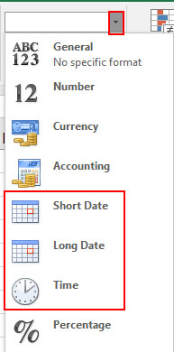 Change Date Format in Excel