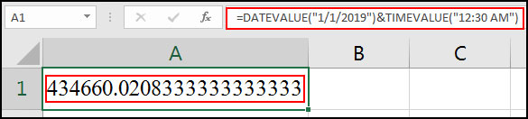 Date and Time Value in Excel