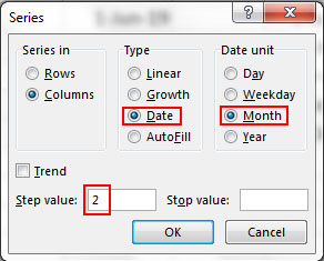 How to auto fill weekdays, months and years with desire different dialog box