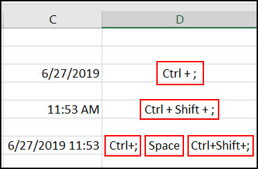 How to insert current date and time which not update automatically