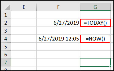 Insert Date and Time which update automatically in Excel