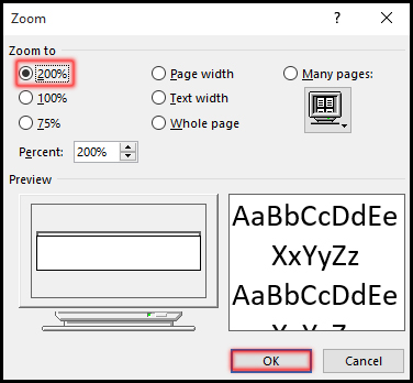 Zoom In-Out in Word 2016 Bangla Tutorial 1