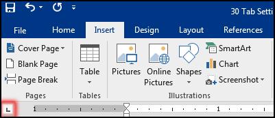ট্যাব সেটিং করা [Select Tab Type in MS Word 2016]
