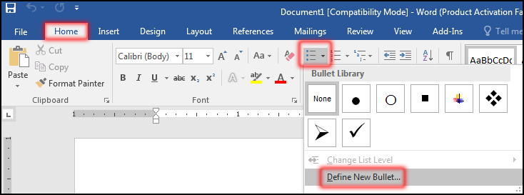 Create More Bullets And Numbering in MS Word 2016