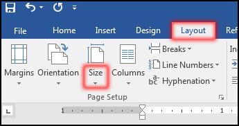 পেইজ সেটআপ নির্ধারণ করা [Change Page Size in MS Word 2016]