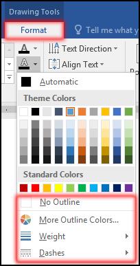Change WordArt Text Outline Color in MS Word 2016 Bangla Tutorial