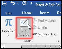 Write Equation by hand in MS Word 2016 Bangla Tutorial