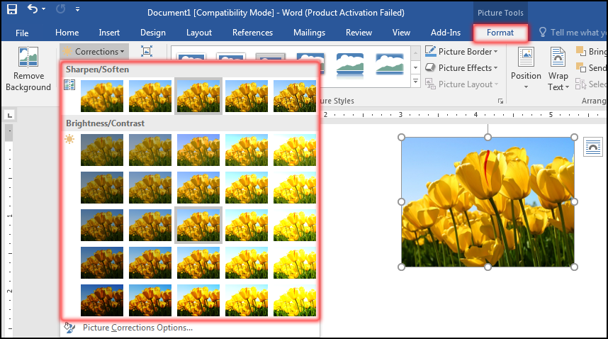 How to Correction Image in MS Word 2016 Bangla Tutorial