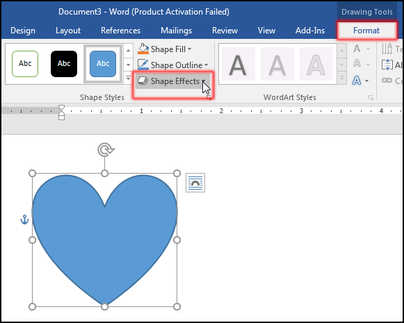 Insert & Format Shapes (Change Shape Effect in MS Word 2016 Bangla Tutorial)