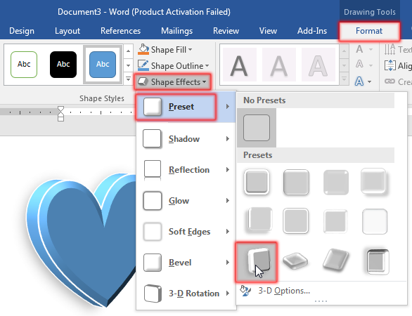 Change Shape Effect in MS Word 2016 Bangla Tutorial