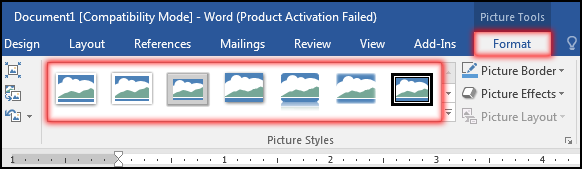 How to change Picture Styles in MS Word 2016 Bangla Tutorial