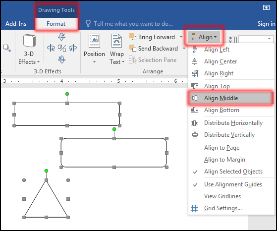 Align Object in MS Word 2016 Bangla Tutorial