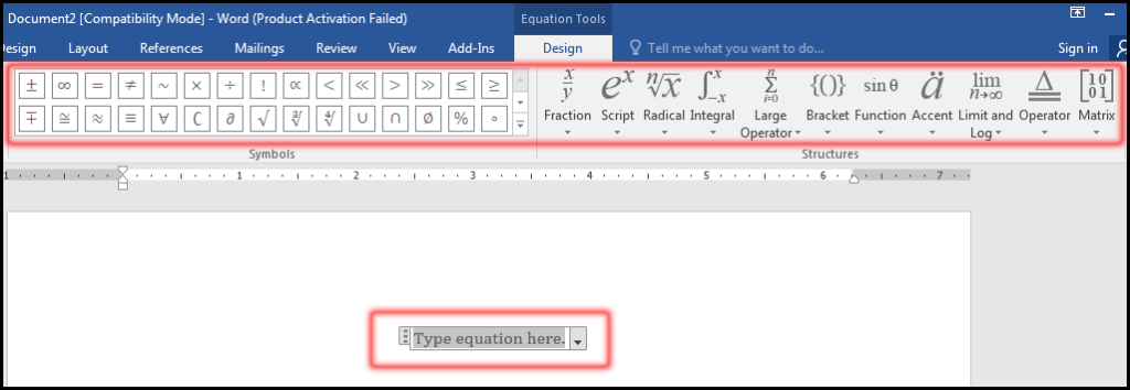 Insert Equation from equation editor in MS Word 2016 Bangla Tutorial