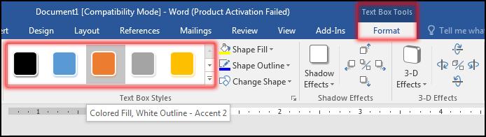 টেক্সট বক্স ফরমেট করা [How to change Text Box Style in MS Word 2016 Bangla Tutorial]