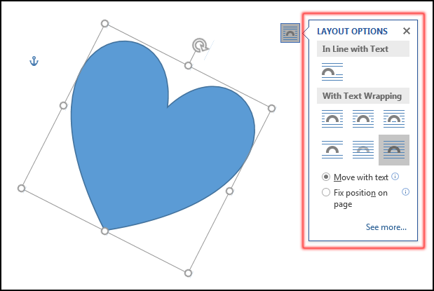 Change Position a Shape in MS Word 2016 Bangla Tutorial