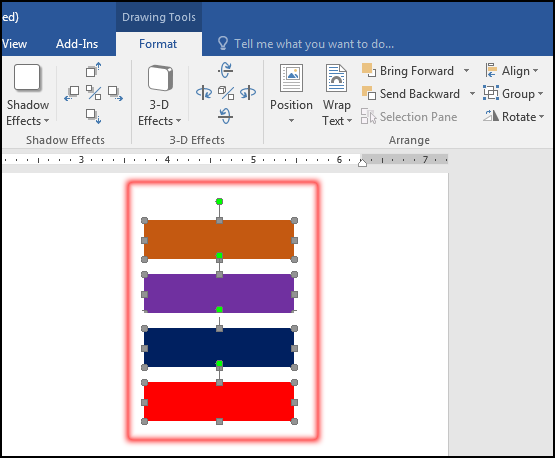 Object Distributed Vertically in MS Word 2016 Bangla Tutorial