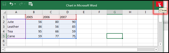 Close the spreadsheet in MS Word 2016 Bangla Tutorial