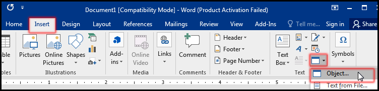 Insert an Excel Sheet in Word Document - MS Word Bangla Tutorial