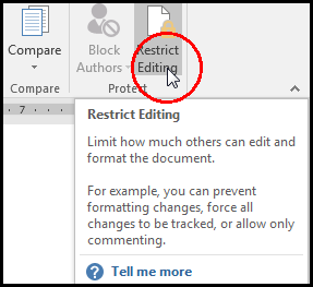 Restrict Editing in a template in MS Word 2016 Bangla Tutorial