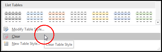 Clear Table Style in MS Word 2016 Bangla Tutorial
