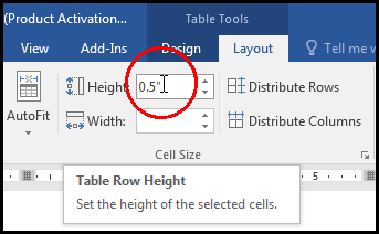Fixed Row Height in MS Word 2016 Bangla Tutorial