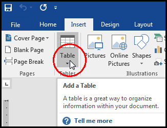 Insert Table in MS Word 2016 Bangla Tutorial