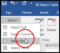 Select Row From Layout Tab in MS Word 2016 Bangla Tutorial