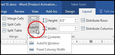 Move & Resize Table [Auto Fit Table Width with Content in MS Word 2016 Bangla Tutorial]
