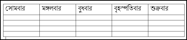 Input Text in Table in MS Word 2016 Bangla Tutorial