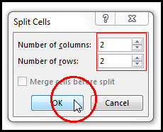 Split Cell in MS Word 2016 Bangla Tutorial