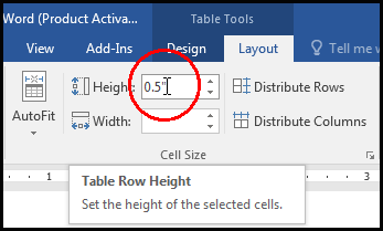 Distribute Rows with specify height in MS Word 2016 Bangla Tutorial