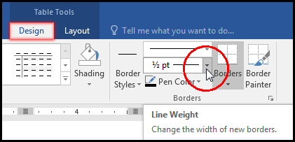 Select Line Weight for Table Border in MS Word 2016 Bangla Tutorial