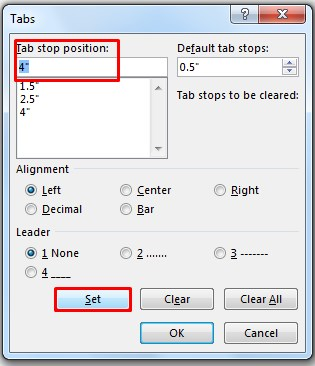 Using Tabs from Command Menu