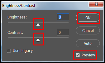 Change Brightness and contrast of image in Adobe Photoshop CC