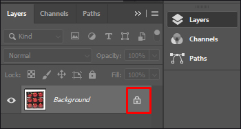 Unlock Layer in Adobe Photoshop CC