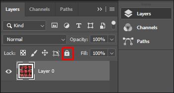 Lock Layer in Adobe Photoshop CC