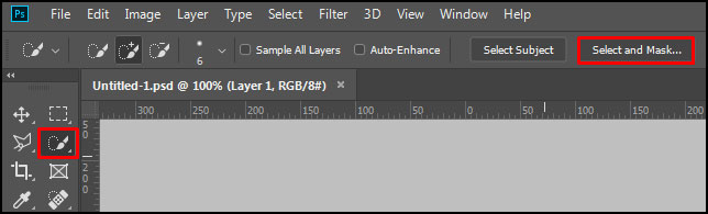 Select and Mask in Adobe Photoshop CC