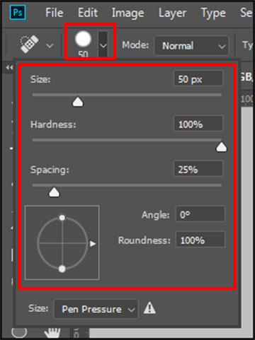 How to resize Spot Healing Brush Tool in Adobe Photoshop CC