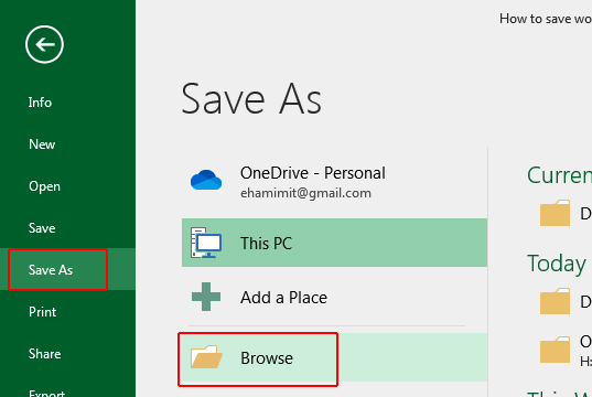 How to save excel 2016 file as CSV or TEXT format image