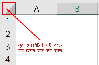 Select Entire Worksheet in Excel